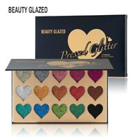 15 Colors Eye Shadow Pressed Glitter Diamond Shimmer Palette Highly Pigmented