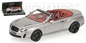 Bentley Continental Supersports Convertible 2009-13 Gray Grey Metallic 1:43