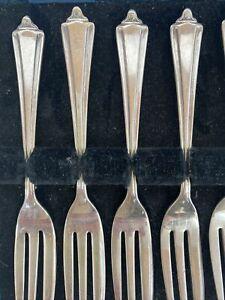 Antique Wendts Adelaide Cake Forks Set of 6 Made In England