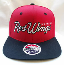 Detroit Red Wings NHL Retro Vintage Snapback Hat BY ZEPHYR New