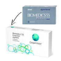 Biomedics 55 Evolution mit UV Schutz  2 x 6 Neu &  OVP