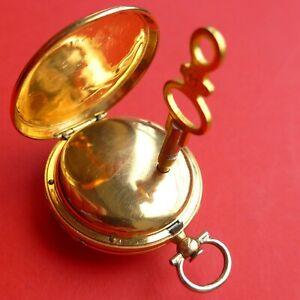 Spindel DAMEN TASCHENUHR, Gold, kleine Fehler, sonst gute Funktion, ca.1815