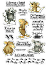 Stampendous House Mouse So Sweet Clear Stamp Set Nouveau
