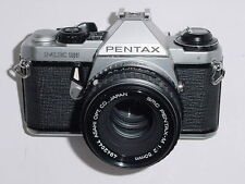 Pentax Me Super 35mm cámara SLR de película con SMC PENTAX-M 50mm F/2 Lente