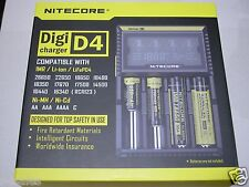 Nitecore D4 Digicharger Universal  Li-Mn Li-ion Ni-MH Ni-Cd Battery