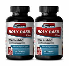 Tulasi - Holy Basil Extract 750mg - Boost Energy and Strength Supplements 2B