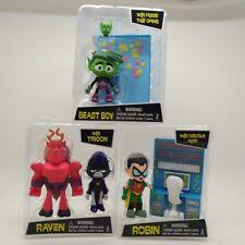 3PCS DC Comics TEEN TITANS GO! Action Figure 3'' RAVEN ROBIN BEAST BOY A65Y