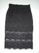 VALLEYGIRL SKIRT, BLACK LACE, SIZE 8, BRAND NEW WITH TAGS!