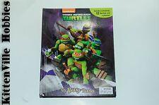 Teenage Mutant Ninja Turtles My Busy Books New Storybook 12 Figurines Playmat