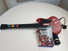 Playstation PS 2 Guitar Hero Controller and Game Red Octane FAST FREE SHIPMENT