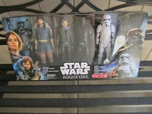 "STAR WARS 12"" ROGUE ONE 6 FIGURE SET TARGET EXCLUSIVE DARTH VADER STORM TROOPER"