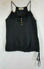 L.E.I. Women/Juniors XL Black Sleeveless Blouse KNIT TOP lace Bottom