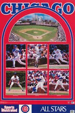 POSTER :MLB  BASEBALL : CHICAGO CUBS STARS OF 1991 -  FREE SHIP ! #7517 RW13 A