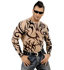 TATTOO SHIRT FANCY DRESS PUNK ROCKER BIKER MAN