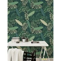 Palm Pastel Leaves removable wallpaper self adhesive wall mural peel & stick