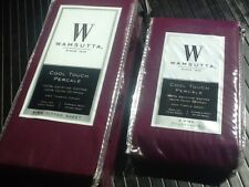 3-pc Purple Wamsutta Cool Touch Percale Egyptian Cotton King Fitted Sheet Set
