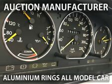 Mercedes-Benz W201 1982-1993 Polished Aluminium Trim Rings Instrument Cluster x3