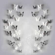 18PCS/Paquete 3D Mariposa Adhesivos Pegatinas de pared Calcomanía PVC Casa Decor