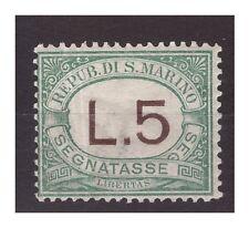 SAN MARINO 1925 -  SEGNATASSE LIRE 5   NUOVO *
