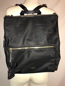 "TUMI Voyageur Jane Convertible Backpack Black/Nylon  12.8""W x 15""H x 3""D"