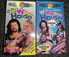 WWF In Your House 1 And 2 Lot NON-RENTAL VHS Coliseum Video