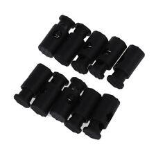 Black Plastic Toggles Stop Drawstring Cord Locks 10 Pcs WS Q1E6
