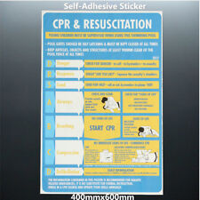 2018 CPR & Resuscitation Chart DRSABC Pool Spa Safety Sign Stickers 600mmx400mm
