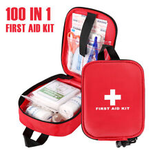 100Teile Erste Hilfe Set-Verbandsmaterial Notfallset Outdoor Auto KFZ mit Tasche