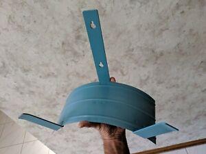 Vtg Steel Garden Hose Wall Hanger Rack Holder Storage Cord Industrial Heavy Duty