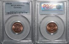 2 REICHSPFENNIG 1936-D Germania PCGS MS64RB
