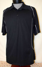 United States Olympic Committee Team Apparel Large Polo Shirt Black Rings Games