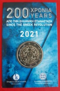 2€ BU Blister 2021, 200 Years of the Greek Revolution 1821-2021, Official MINT