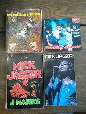 Lot de 4 livres sur les Rolling Stones , Mick jagger