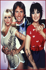 4x6 SIGNED AUTOGRAPH PHOTO REPRINT of THREES COMPANYCAST #TP