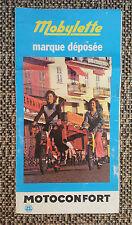 Antico prospetto Mobylette 50 collezione 70's vintage pubblicità 1975