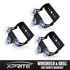 x3 Xprite 52023 Strobe Traffic Advisor LED Light Bar Bracket with Suction Cups