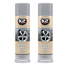 x2 Pintura especial para llantas / Color Plata / Spray /  K2 Pro / 500ml