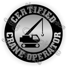 Hard Hat Sticker | CERTIFIED CRANE OPERATOR Heavy Equipment Safety Helmet Decal