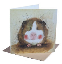 Cute Guinea Pig Pet Blank Card for Any Occasion Birthday Christmas Xmas etc