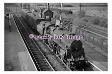 bb0962 - BR Railway Engine 75062 at Alfreton Station in 1961 photograph