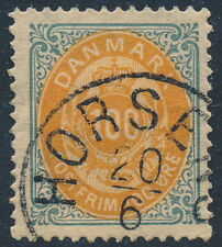 Denmark Scott 34/AFA 31, 10ø grey/yellow Bicolour, VF used, 3rd printing