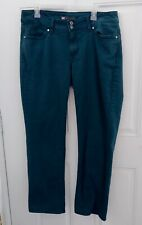 Levi's 529 Women SZ 16M 33X32 Jeans Green Forest Curvy Straight Mid Rise Stretch
