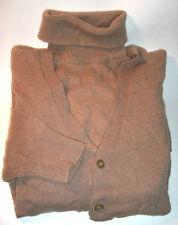 Sweater Set Alan Paine Womens Camel Hair Turtleneck and Cardigan 38