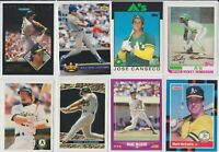 Lot of 58 cards (see pics) Mark McGwire Rickey Henderson Jose Canseco w/ RC A's