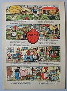 Weck Frischhaltung und Einmachen - Comic - 2 Werbeflyer 1938-40 - Top Erhaltung