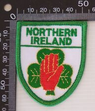 VINTAGE NORTHERN IRELAND EMBROIDERED SOUVENIR PATCH WOVEN CLOTH SEW-ON BADGE