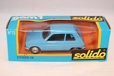 Solido 72 Citroen LN blue 1:43 perfect mint in box