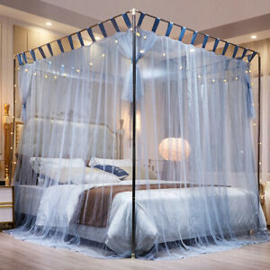 summer mosquito net stainless steel tubes bed curtain netting dust proof canopy