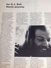 K2-9 Ephemera 1972 Article Radio D J Bob Harris