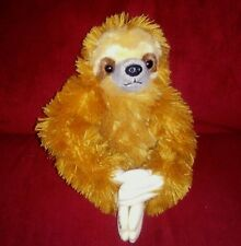 Aurora 3-TOED SLOTH Golden Brown Soft Fuzzy 9in Sitting Plush Costa Rica